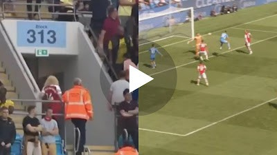 (Video) Arsenal's downfall on full display as fans spotted leaving Etihad in their droves in first-half