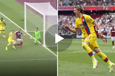 VIDEO: GOOALLL Chelsea loanee Conor Gallagher opens his Crystal Palace account from seemingly impossible position